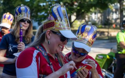 Marching Band Performs in Torah Scroll Parade