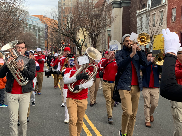 Marching Band Performs in Chinese New Year's Parade