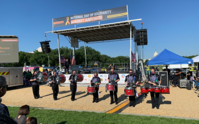 DCDD Percussionist Perform at National Day of Solidarity Against AAPI Hate rally